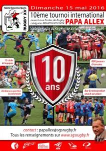 SGS Rugby – Tournoi Papa Allex 2016